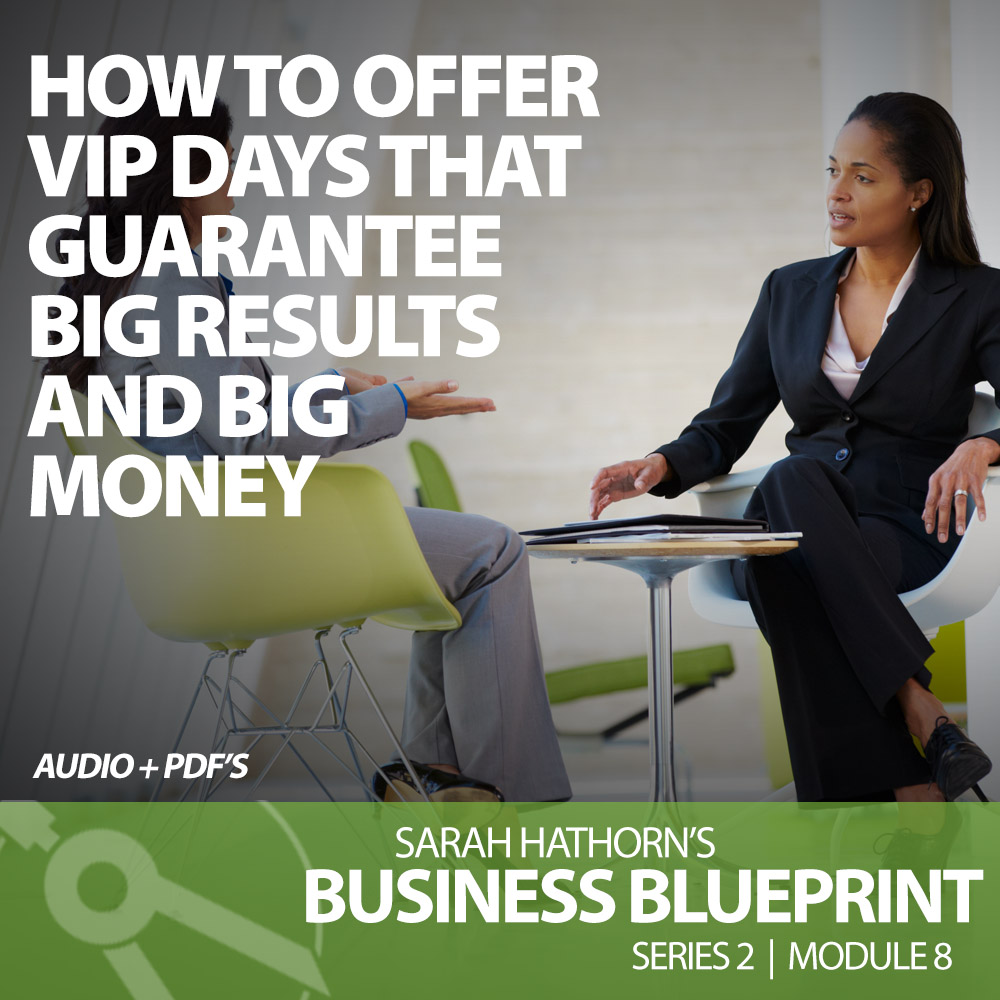How to Offer VIP Days that Guarantee Big Results and Big Money